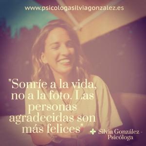 gratitud psicologia Silvia Gonzalez
